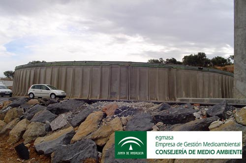 Depósitos de   abastecimiento de agua potable. Andalucía.